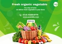 Fresh organic vegetable postcard Pocztówka template