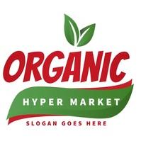 FRESH RESTAURANT market food logo editable template