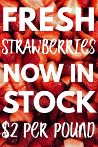 Fresh Strawberries In Stock Template