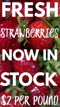 Fresh Strawverries Digital Template Digitalanzeige (9:16)