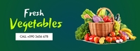 FRESH VEGETABLES FLYER Facebook Cover Photo template
