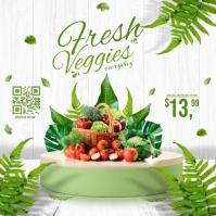 Fresh Veggies Ads Isikwele (1:1) template