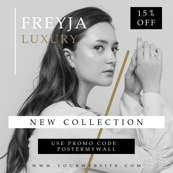 Freyja Fashion Beauty Instagram Promo Banner