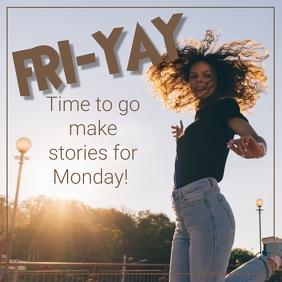 FRI-YAY Publicação no Instagram template