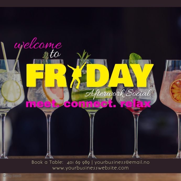 Friday After-work Social Instagram Post template