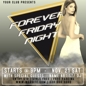 FRIDAY CLUB EVENT FLYER AD