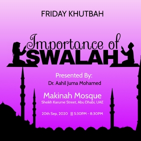 Friday Islamic Khutbah Poster Template