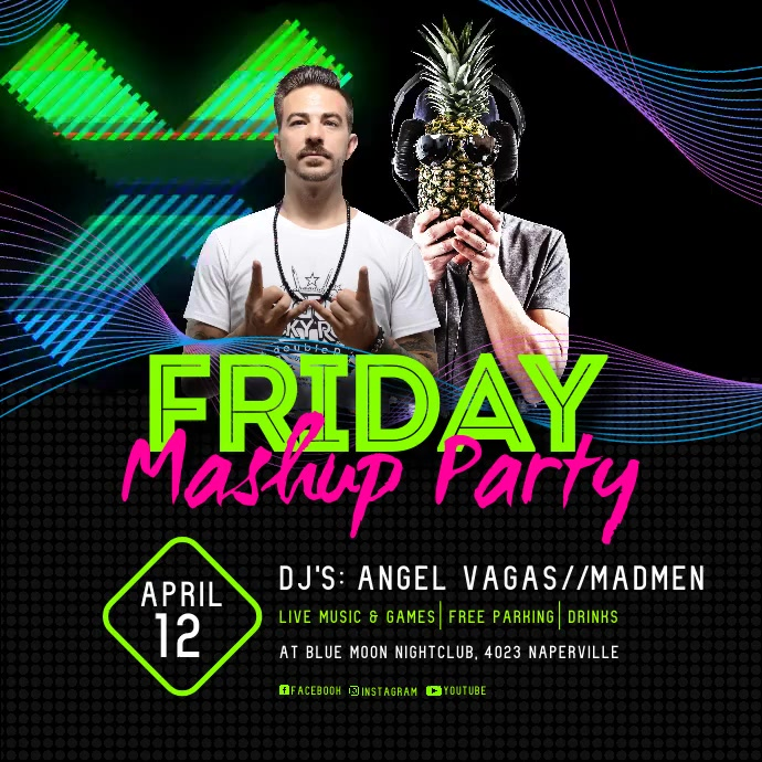 Friday Mashup Party Instagram Video template
