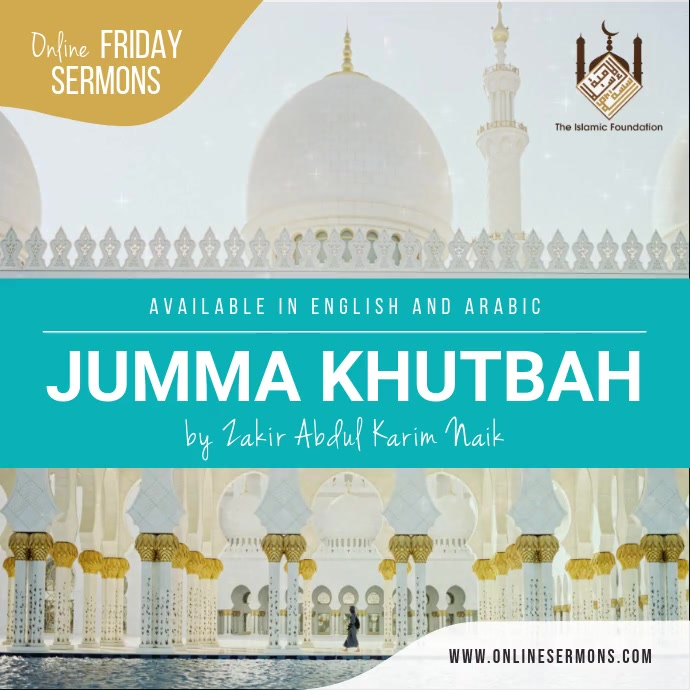 Friday Muslim Sermon Instagram Image template