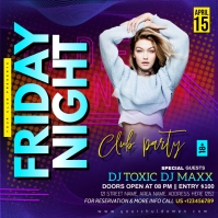 FRIDAY NIGHT CLUB PARTY Instagram Post template