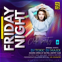 FRIDAY NIGHT CLUB PARTY Instagram 帖子 template
