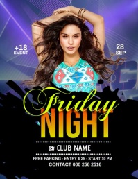 Friday Night Flyer (US-Letter) template