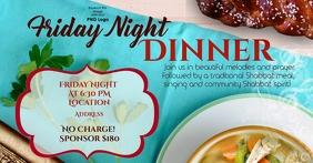 Friday Night Dinner Obraz udostępniany na Facebooku template