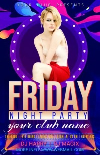 friday night party Halfbladsy Breed template
