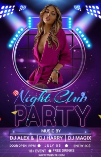 friday night party Half Page Wide template