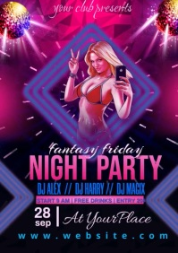 friday night party A3 template