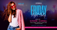Friday Night Party Flyer Design Facebook Ad template