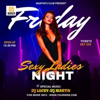 Friday Night Party Flyer Design Pos Instagram template