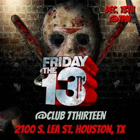 FRIDAY THE 13TH CLUB FLYER TEMPLATE