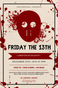 friday the 13th Flyer Design Template