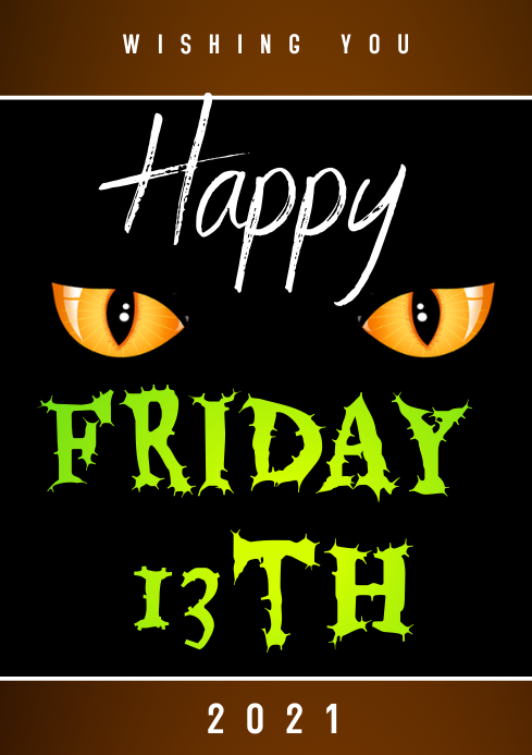 Friday the 13th Flyer A3 template
