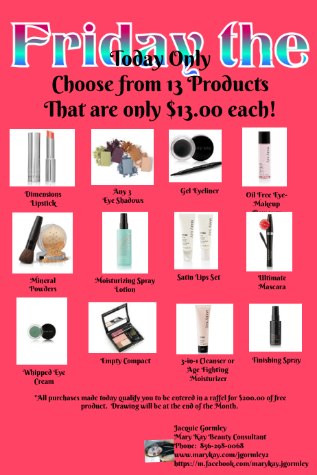 Mary Kay Friday The 13th Sale Template PosterMyWall