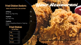 Fried Chicken Menu Three Digitalt display (16:9) template