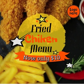 Fried Chicken Restaurant Video Template
