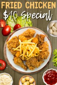 Fried Chicken Special Poster Template