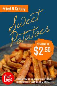 Fried Sweet Potato Poster Ad