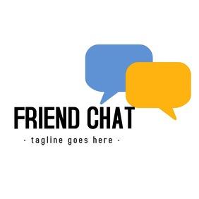 Friend chat app logo icon