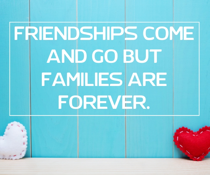 FRIENDS AND FAMILIES QUOTE TEMPLATE Grand rectangle