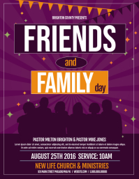 friends and family Flyer (US Letter) template