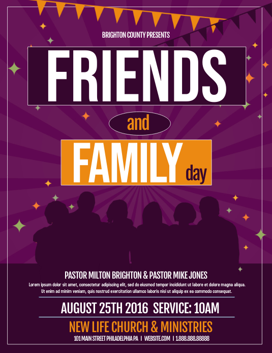 friends and family Ulotka (US Letter) template