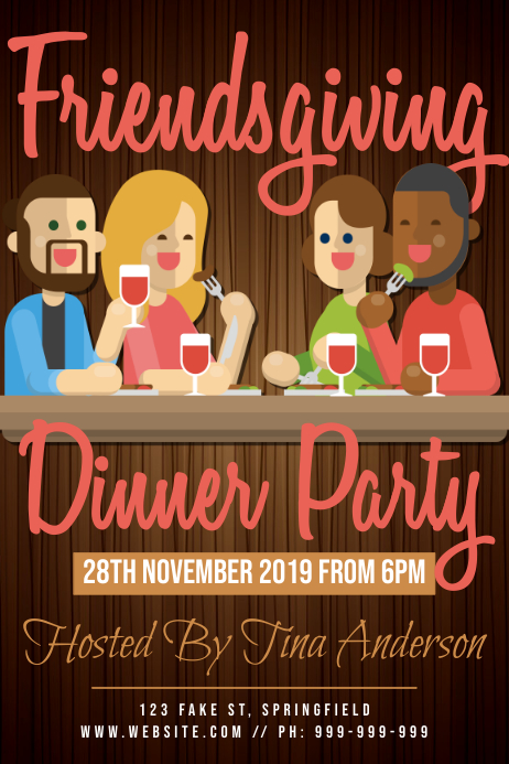 Friends giving Dinner Poster