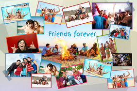 Friends Photo Collage Template Poster