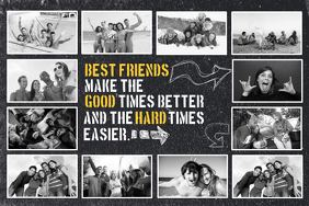 Friends Photo Collage Template Póster