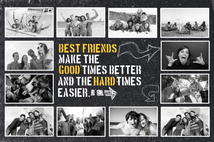 Plantilla de Collage de Fotos de Amigos de | PosterMyWall