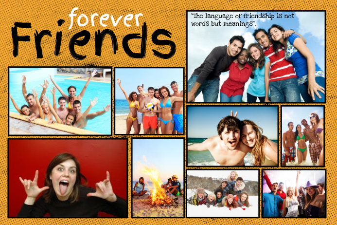 Friends Photo Collage Template | PosterMyWall