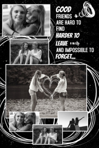 Friends Photo Collage Template Cartaz