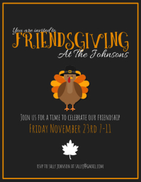 Friendsgiving Flyer (US Letter) template