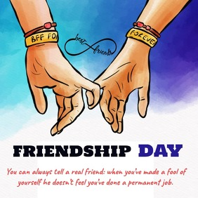 Friendship day | Poster, โพสต์บน Instagram template