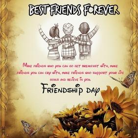 Friendship day banner Instagram-bericht template