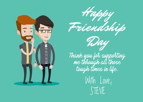 Friendship Day card Postcard template