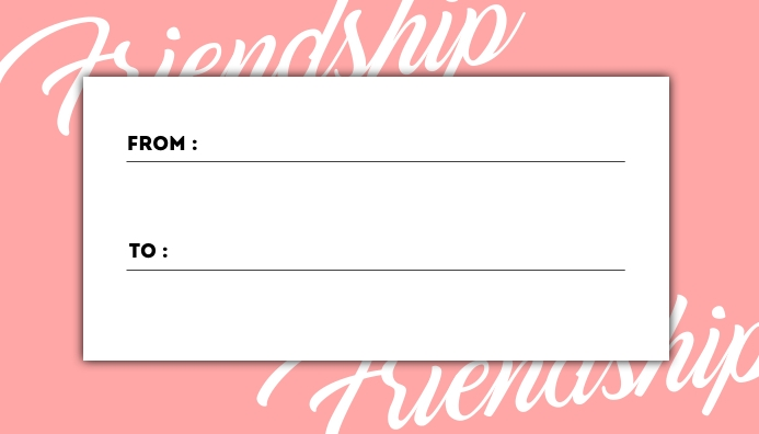 Friendship Day Card Template Visitkort