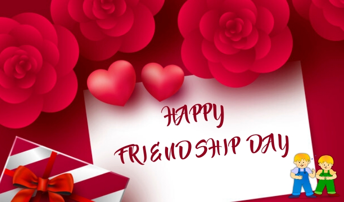 Friendship Day Etiqueta template