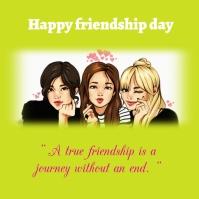 Friendship day โลโก้ template