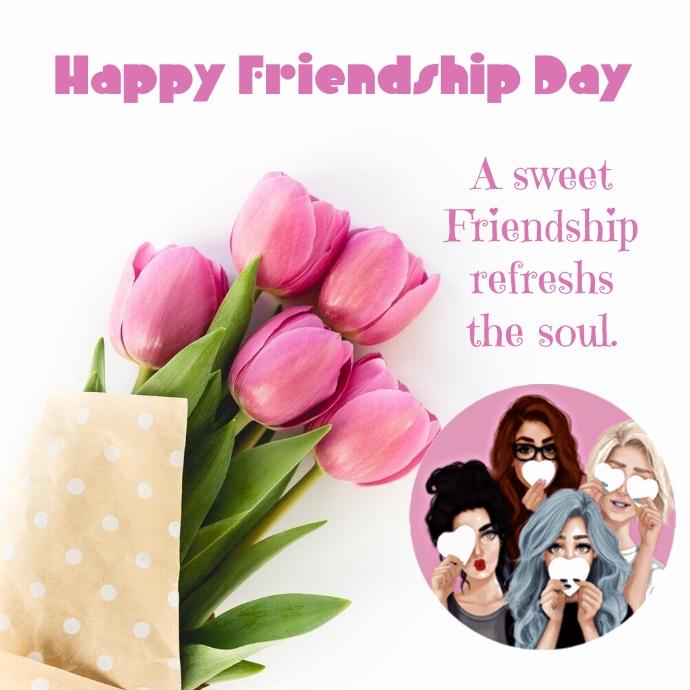 Friendship day Logotipo template