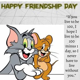 friendship day Instagram-bericht template