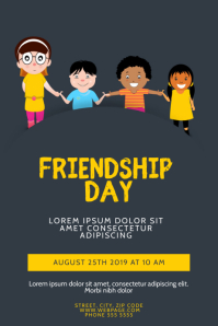 Friendship Day Flyer Design Template Cartaz